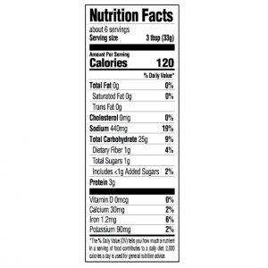 spanish rice nutrition label