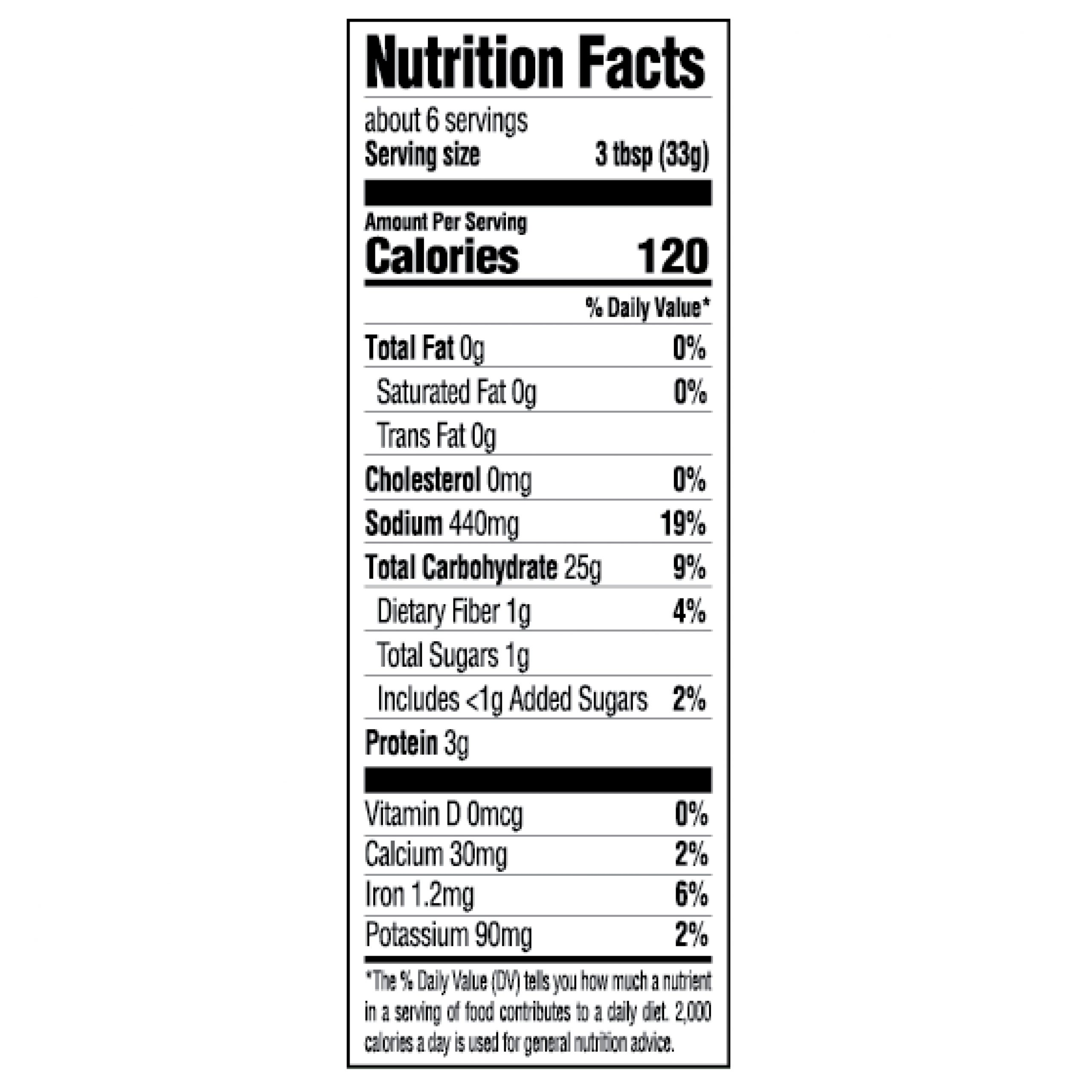 Creole Spanish Rice Dinner Mix Nutrition Facts