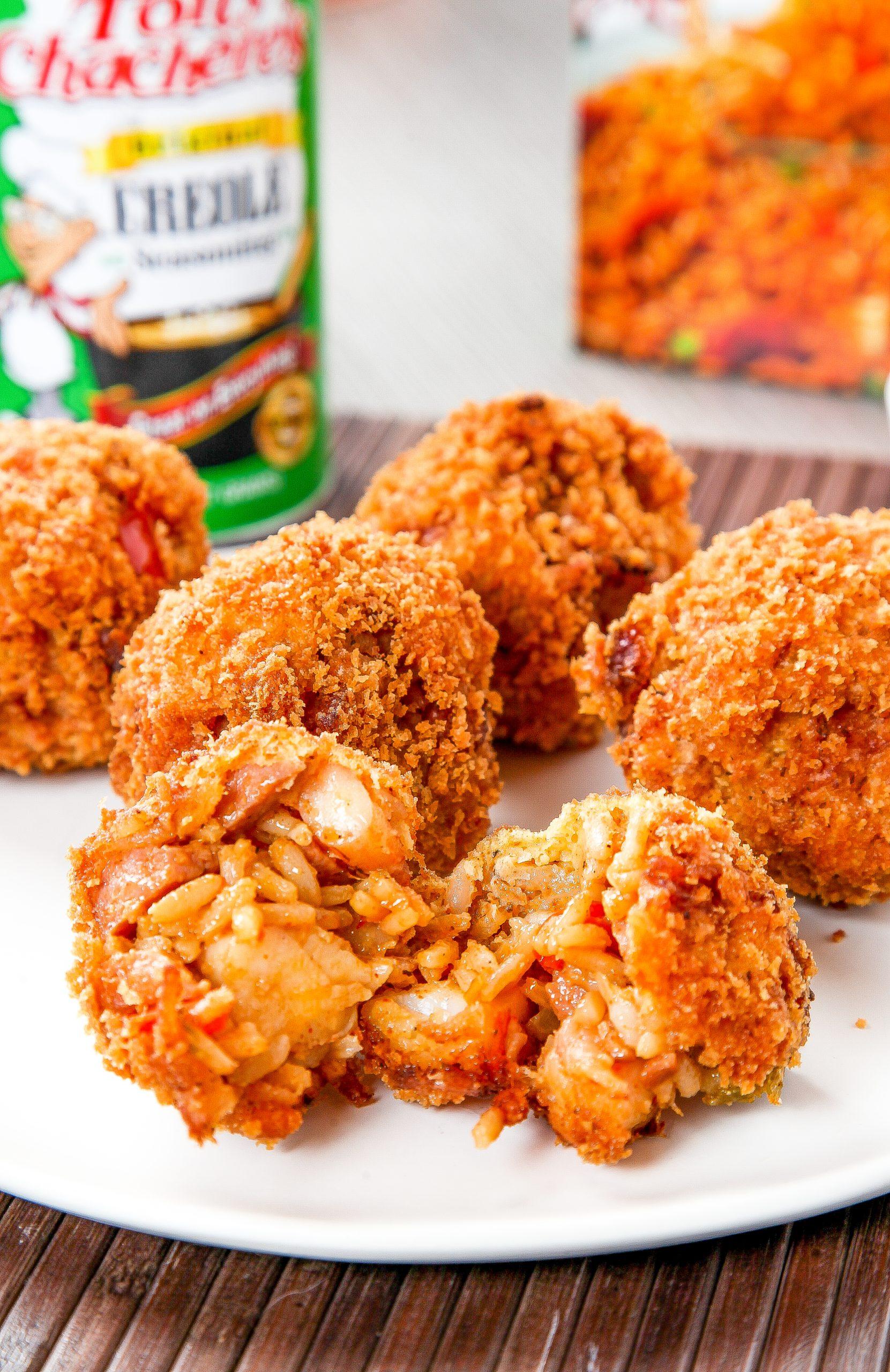 Deep-Fried Jambalaya Balls with Cajun Dipping Sauce
