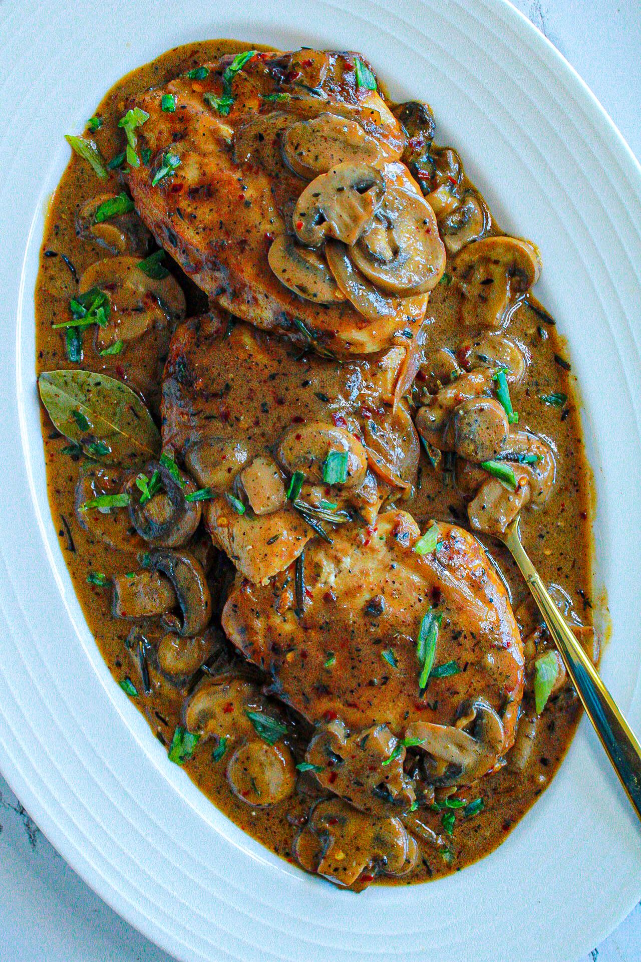 Cajun Mushroom Chicken