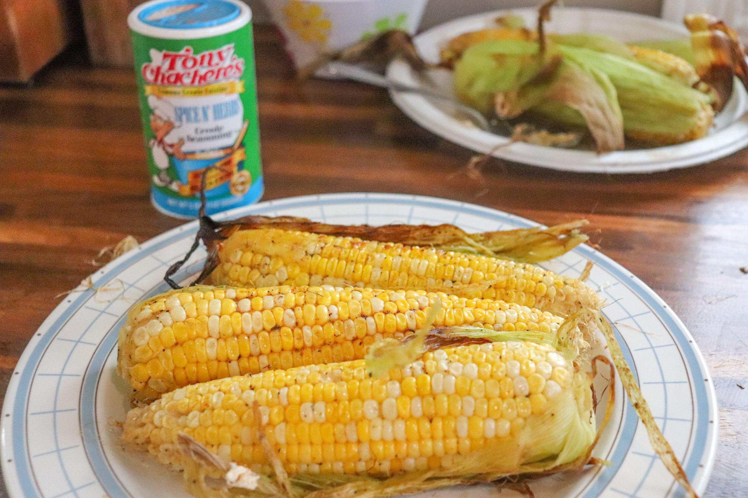 Grilled Marinated Creole Corn