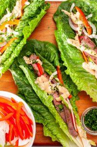 Flank Steak Lettuce Wraps 2