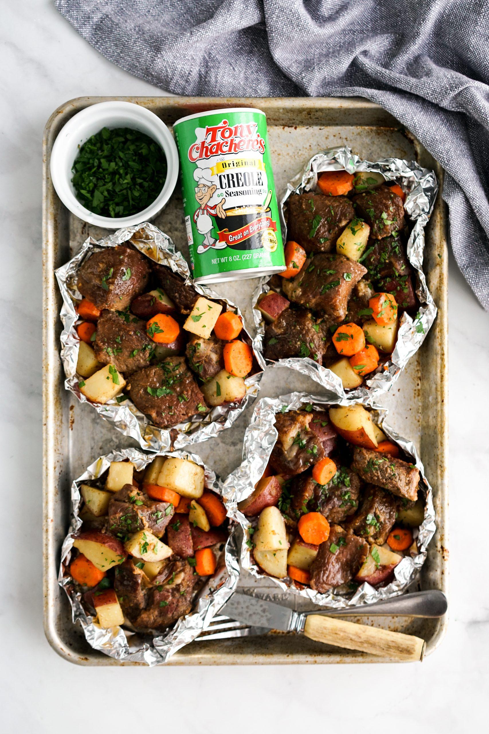 Cajun Steak and Potato Foil Packs 2