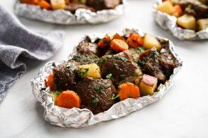 Cajun Steak and Potato Foil Packs