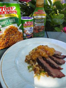 Marinaded Duck Breasts with Creole Peach Pepper Jelly