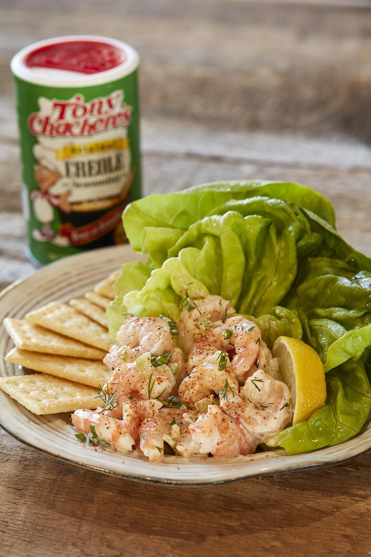 Shrimp Salad with Creamy Lemon Herb Sauce