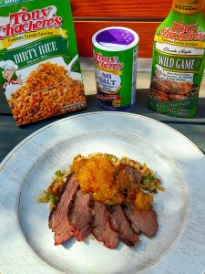 Creole Duck Breasts with Peach Pepper Jelly (Lightened)