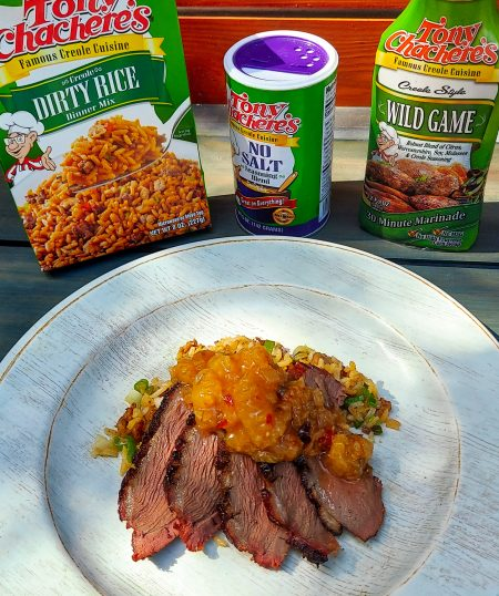 Marinated Duck Breast with Creole Peach Pepper Jelly