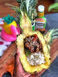 Cajun Pepper Steak Pineapple Bowls