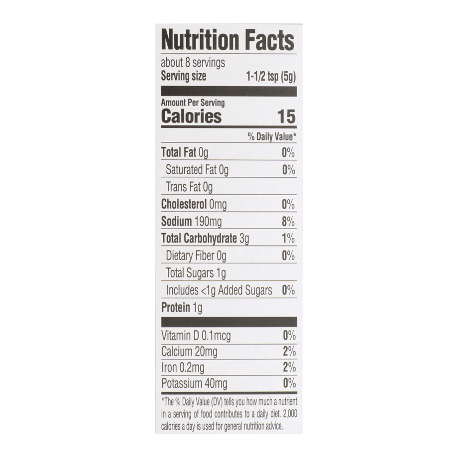 Creole Alfredo Sauce Mix Nutrition Facts