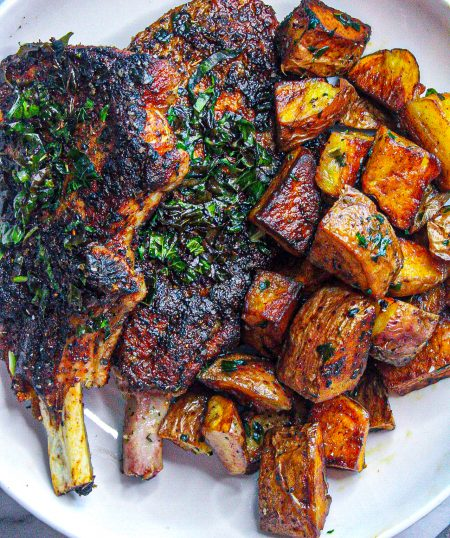 Skillet Pork Chops & Potatoes