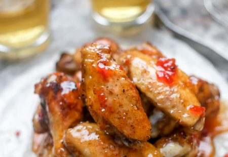 Easy Grilled Chicken Wings with Hot Pepper Jelly Glaze