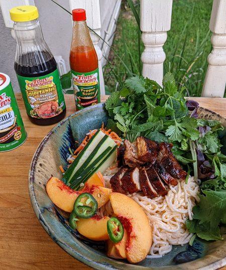 Praline Honey Ham Glazed Pork Picnic Rib Noodle Bowl