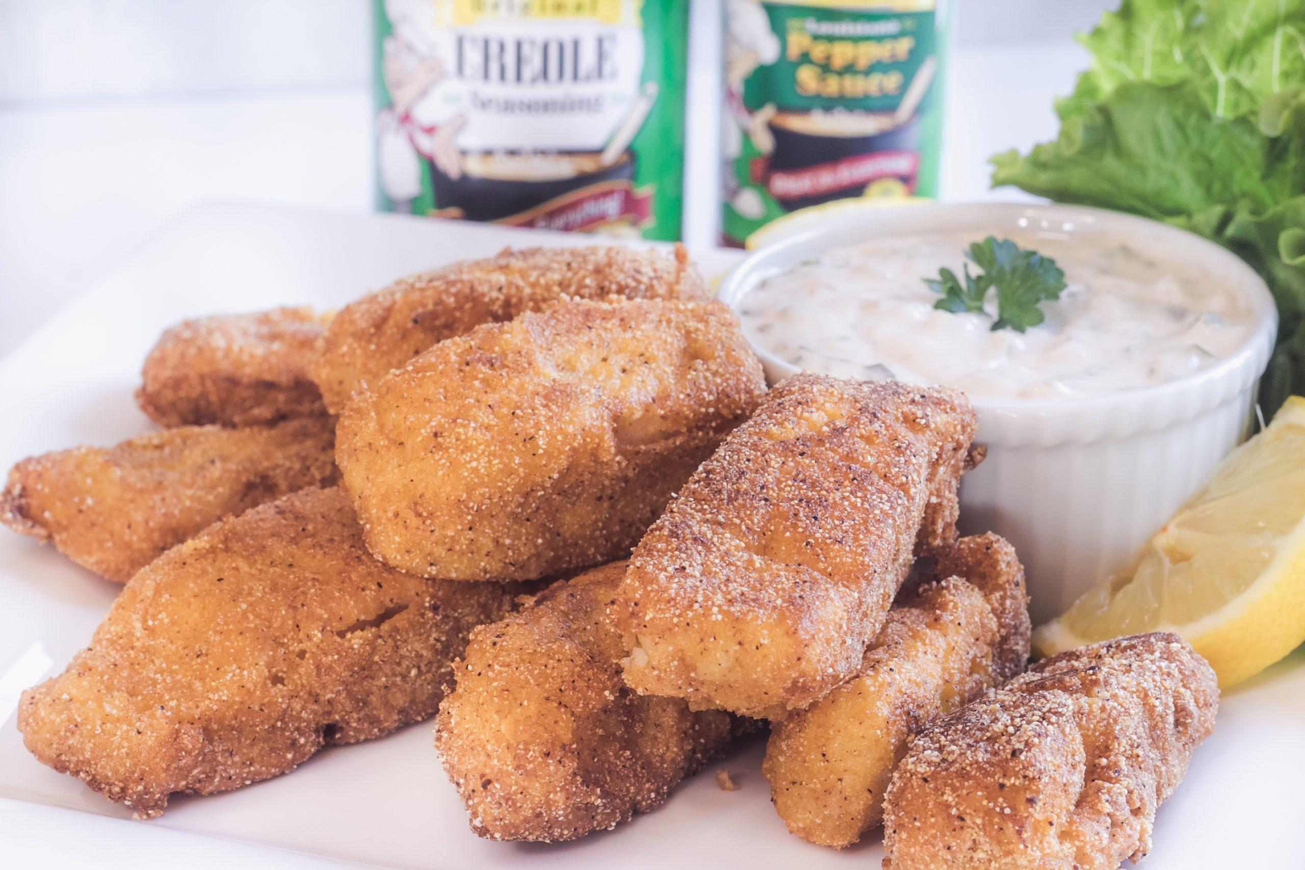 Pan Fried Fish Fingers & Tangy Tartar Sauce