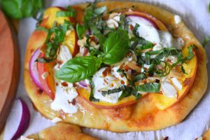 Peach & Burrata Flatbread with Honey Drizzle 2