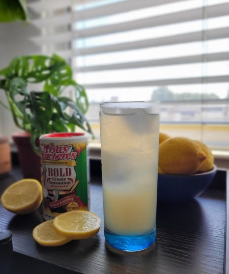 Creole Sparkling Lemonade with BOLD Creole Simple Syrup