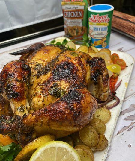 Cajun Roasted Spatchcock Chicken