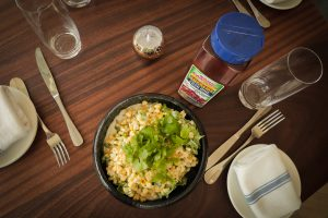 Grilled Corn Salad with Lime Crema 1