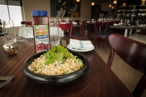 Grilled Corn Salad with Lime Crema