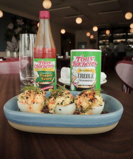 Louisiana Shrimp Deviled Eggs