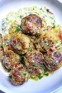 Creole Chicken & Pork Meatballs