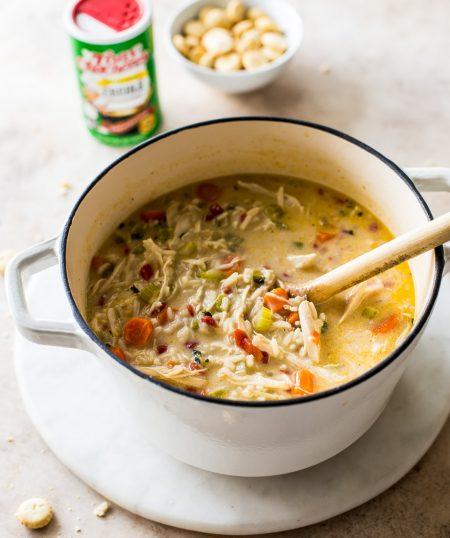 Cajun Comfort Chicken & Rice Soup