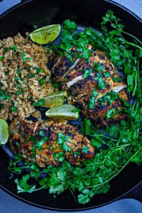 Cilantro Lime Chicken with Chicken Rice