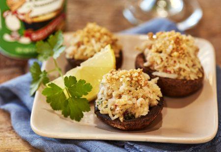 Creole Butter Crab Stuffed Mushrooms