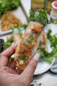 Creole Salmon Spring Rolls